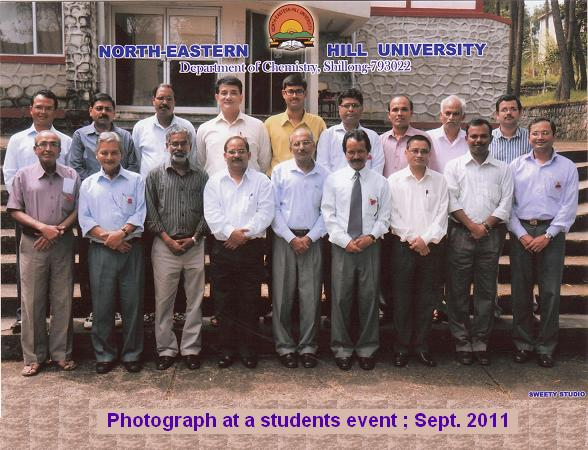 Photograph of Faculty members at a students event held on13th Sept. 2011